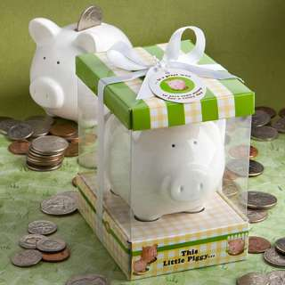 This Little Piggy Ceramic Bank Baby Shower Birthday Party Favor