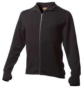 100% Merino Wool Mens Expedition Weight Full Zip Jacket