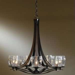 Chandelier with Water Glass , Finish Natural Iron Home Improvement