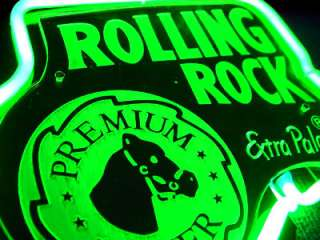 ROLLING ROCK BEER BAR 3D Neon Light Sign sd042