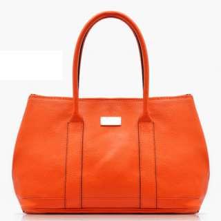 Fashion Orange Women Ladies Faux Leather Tote Hobo Shoulder Bag BA415