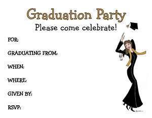 GRADUATION invitation girl student high school college