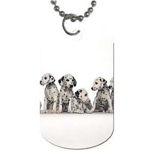 Cute Dalmation puppies Dog Tag with 30 chain necklace Great Gift Idea