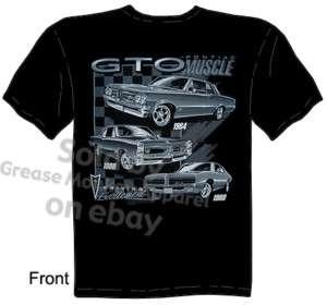 64 66 69 Pontiac GTO T shirt, Pontiac Gear, New Sz M 3X
