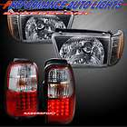 96 98 TOYOTA 4RUNNER BLACK HEADLIGHTS CORNER 4PCS + L.E.D. TAIL