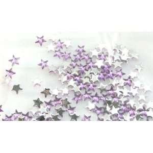Nail Art Acrylic Rhinestone Cool Purple Star 100 Piece Embellishment