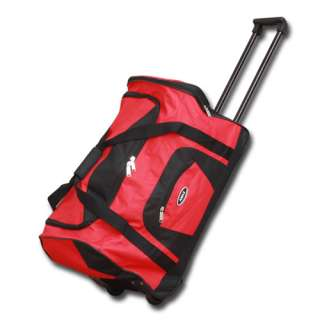 Carry On Size Wheeled Rolling Duffle Bag/Zebra/Peace/SolidColor
