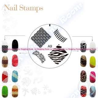 Nail Art Stamp ENAS Design image stamping DIY stencil printing salon