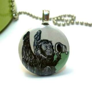 Wizard of Oz Necklace PENDANT   Flying Monkey   B
