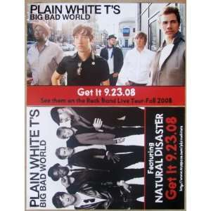 Plain White TS   Big Bad World   Two Sided Poster   Rare