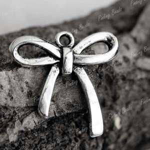 25pcs NEW tibetan silver Bow Tie Fashion Charms TS4215
