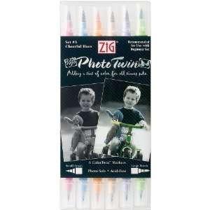 Zig Photo Twin Tip Markers, Set 3, Cheerful Hues: Arts