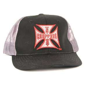 West Coast Choppers Jesse James Black & Gray Mesh Back