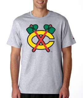 Chicago Blackhawks Throwback Logo Champion Shirt S/3XL