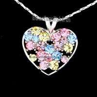 SWAROVSKI crystal 18k gold GP heart necklace 578