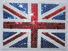 uk union jack flag 5mm sequin iron on transfer patch