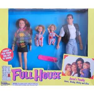 FULL HOUSE JESSES FAMILY DOLLS w Jesse, Becky, Nicky & Alex Doll