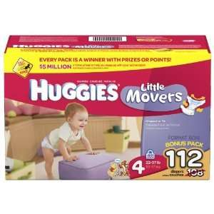 Huggies Little Movers Diapers 112 count SIZE 4 CHEAP!!!
