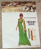 1974 ad Virginia Slims cigarette  CHERYL TIEGS fox hunt
