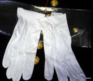 Coast Dress on White Dress Gloves Marine Corps Navy Army Coast Guard Uniform Men