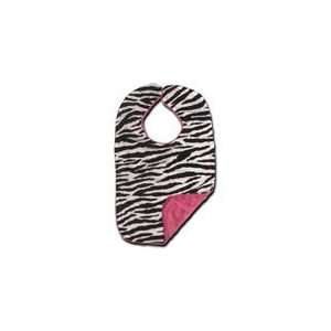 Personalized Zebra and Hot Pink Chenille Bib: Baby