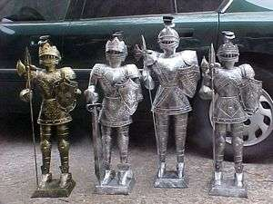 Foot SILVER or GOLD Suit of Armor Medieval Knight