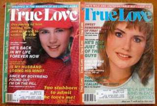 Lot Of 4 TRUE LOVE Magazines: January, February, March & April 1987