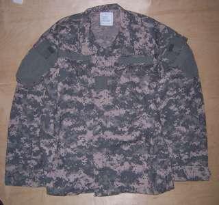 US Army Flame Resistant Aramid ACU Camo Shirt Med Reg