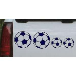 Navy 30in X 9.4in    Soccer Ball Stick Family Stick Family