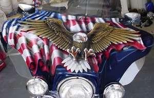 Custom Paint Job On Your Tins Flag & Eagle Fairing