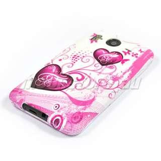 HEART SOFT GEL TPU Case Cover SKIN For HTC Desire HD 2