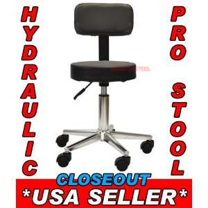 BLACK Hydraulic Stool Chair Body TATTOO Back PIERCING