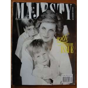 Majesty Magazine May 1990 vol 11 no 5, Princess Diana and