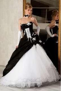 Brand New BLACK Corset Wedding Dress/Party Gown custom made