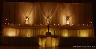 Professional Wedding Backdrop Kit w/Pipe, Drape & Valence: 2 PANEL 6