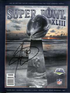 Ward, Pgh Steelers, Signed Super Bowl XLIII Program, Crisp & Clean