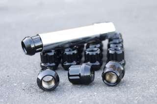 Muteki Open End Black Racing Tuner Wheel Lug Nuts 1.5 20pcs Chevrolet