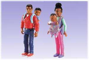 NEW~LOVING FAMILY Dollhouse African American Dolls 4 ~ Mom, Dad and