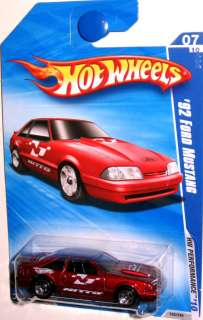 1992 Ford Mustang 2010 HOT WHEELS PERFORMANCE #07/10