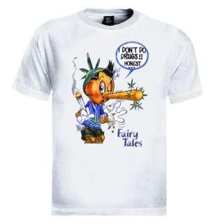 Pinokio High T Shirt Funny drugs cartoon vulgar odd