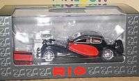 RIO Voiture Miniature BUGATTI T 50 T50 Rouge/Noir 1/43