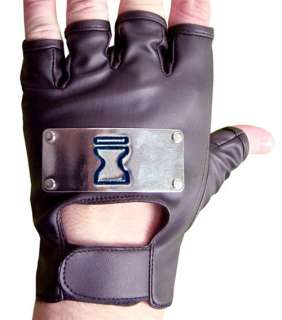 NARUTO Sand Village Metal Logo Cloth/Vinyl Glove, NEW