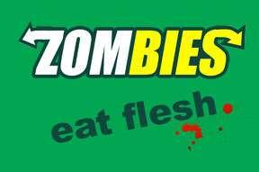 ZOMBIES EAT FLESH SUBWAY LOGO T SHIRT ZOMBIE ALL COLORS