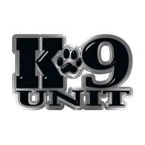 REFLECITVE K9 Unit with Dog Paw Law Enforcement Decal in Black   11.5