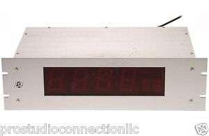 ESE ES 993 3U Broadcast Large LED Time Code Display VGC