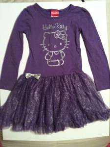 BRAND NEW HELLO KITTY PURPLE TUTU DRESS NWTVERY CUTE