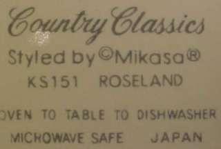 Pretty ROSELAND SALAD PLATE Mikasa PINK PURPLE FLOWERS