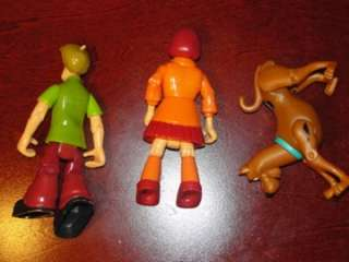 Scooby Doo Shaggy Velma The Mystery Machine Figures Toy LOT of 4 Dog