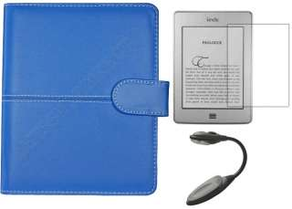 Leather Case Cover for  Kindle Touch+Screen Guard+Light