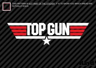 12 Top Gun Sticker Decal Die Cut multicolor vinyl